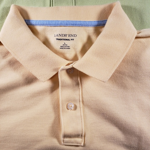 Lands' End Other - 2 Large Land's End Green and Yellow Polos